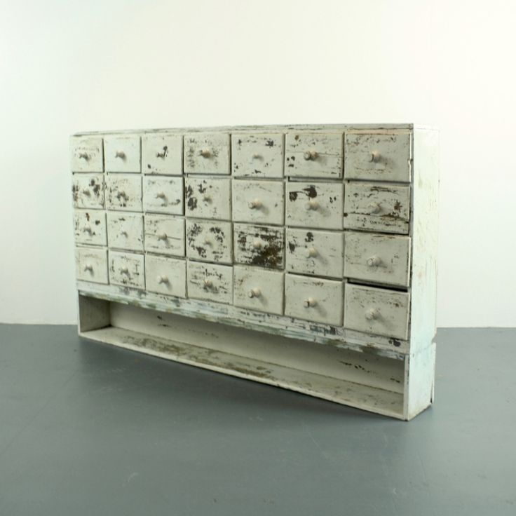 Vintage French Painted Apothecary Chest