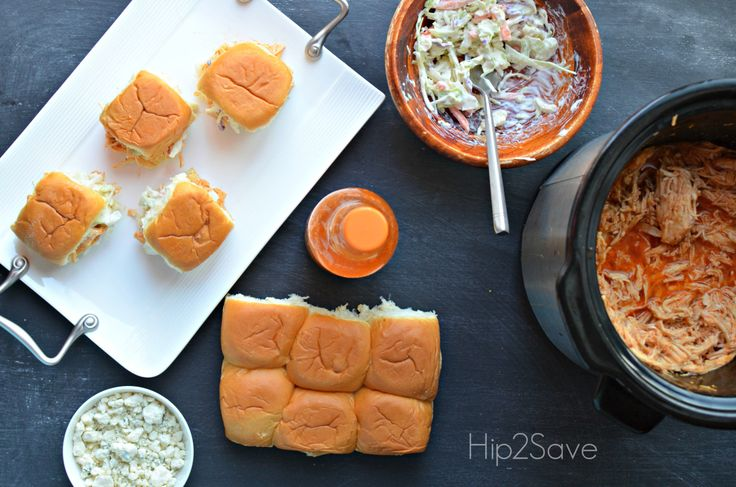 Shredded Buffalo Chicken Sliders Crockpot Hip2Save