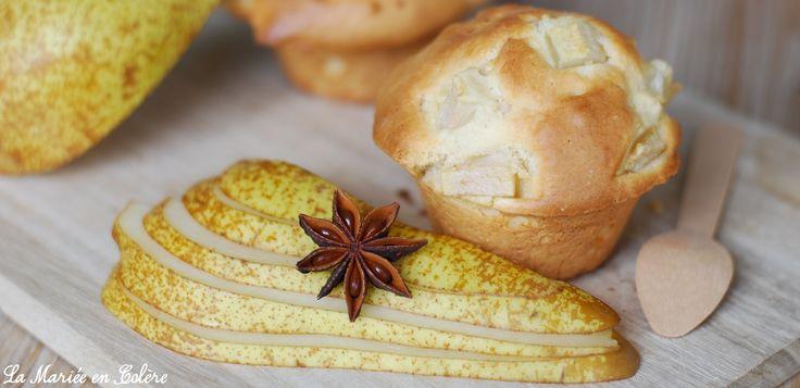 Recette facile : Muffin à la poire gourmand, recette, recipe, recettes, recipes, muffins, gateau, gateaux, poire, #recette