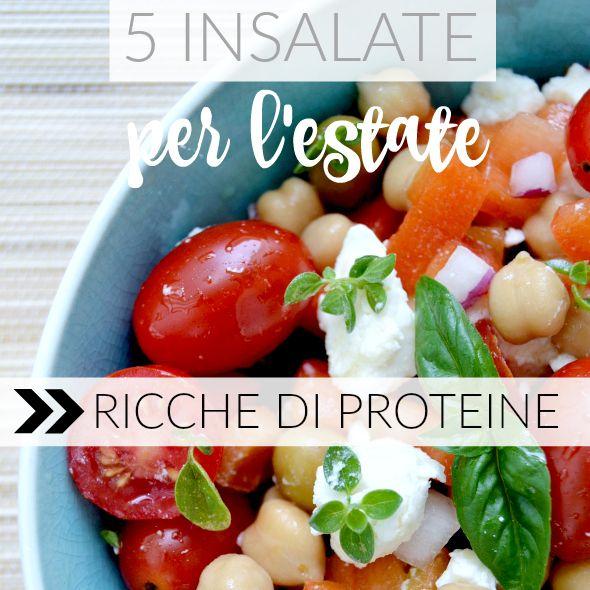 Ricette di insalate proteiche a base di legumi, quinoa, tofu e seitan. Ricette di insalate estive ricche di proteine, anche in versione vegan.