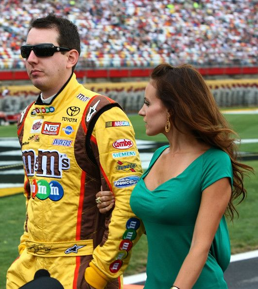 Kyle Busch Girlfriend Bikini | Kyle Busch Kyle Busch (L), driver of the #18 M&M's Toyota, walks with ...