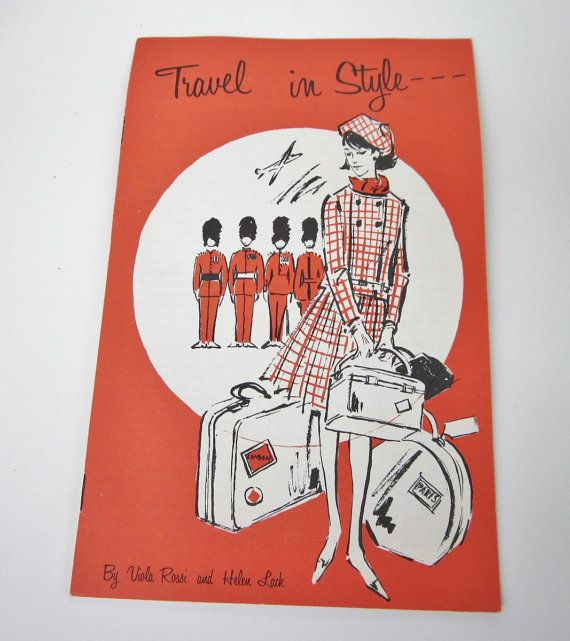 Vintage 1960's Pamphlet TRAVEL IN STYLE from The Ladies Garment Workers Union