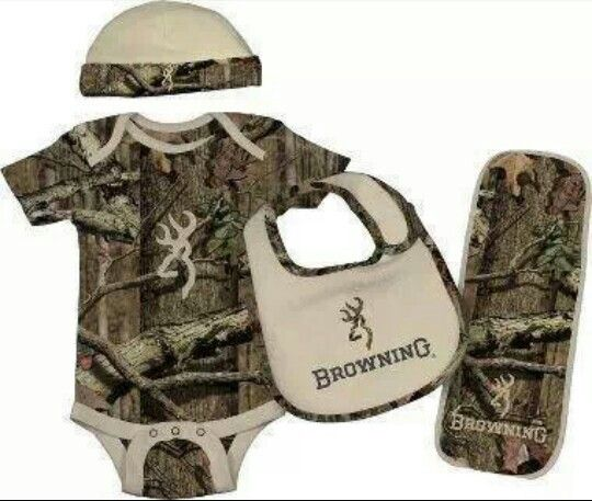 Camo and Browning Baby Outfit