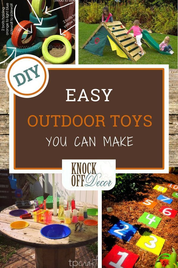 Easy Outdoor Toys You Can Make Today Knockoffdecor Com Diy Outdoor Toys Outdoor Toys Outdoor Toys For Kids
