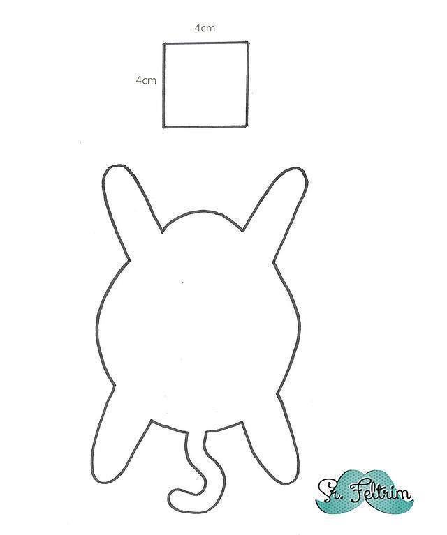 ARTESANATO COM QUIANE - Paps,Moldes,E.V.A,Feltro,Costuras,Fofuchas 3D: Molde gatinho (lindo!) porta copos