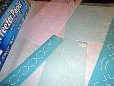 How to mark your quilt with freezer paper