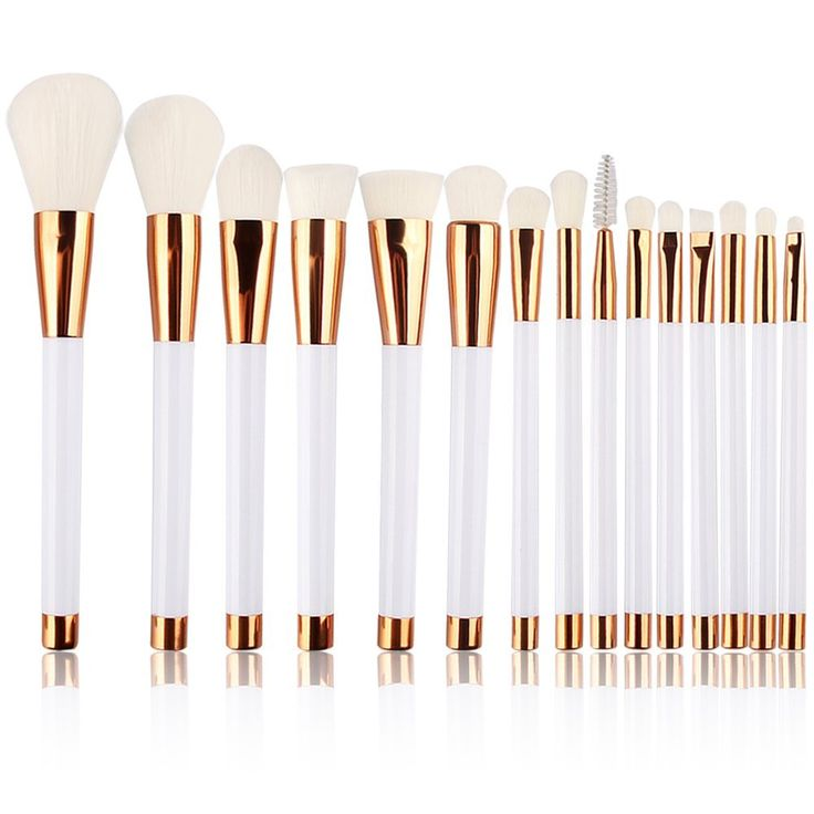 Summifit 15 Pcs Professional Makeup Brushes Set Powder Foundation Contour Blending Eyeshadow Eyeliner Bronzer Lip Brush Kit (White Rose Gold) ** You can find out more details at the link of the image.