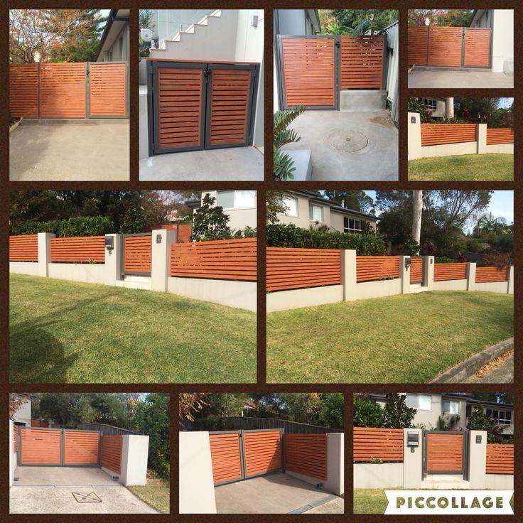 Aluminium Slat Fencing & gates. Plus Bin enclosure