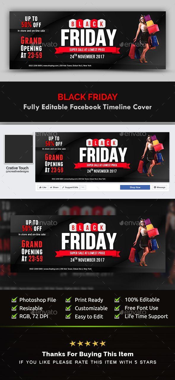 Black Friday Facebook Timeline Cover - #Facebook Timeline Covers