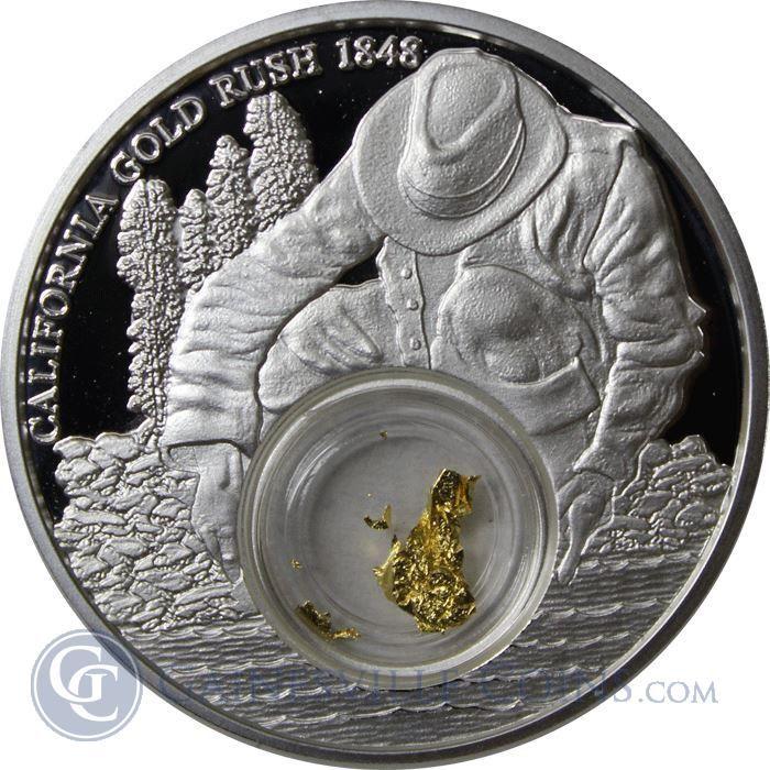 2016 California Gold Rush 1 oz Silver $5 Coin - Niue