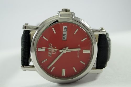 100-AUTHENTIC-VINTAGE-RARE-COLOUR-SEIKO5-21-JEWELS-AUTOMATIC-MENS-WRIST-WATCH