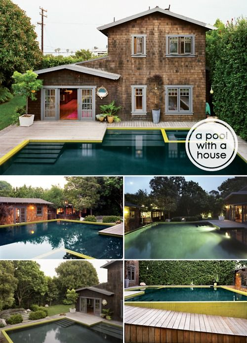 hrrrthrrr:  I amso smitten with this Santa Monica house, it's crazy. I mean just look at the 750 sq ft pool!! and it's 9' deep! The pool i...