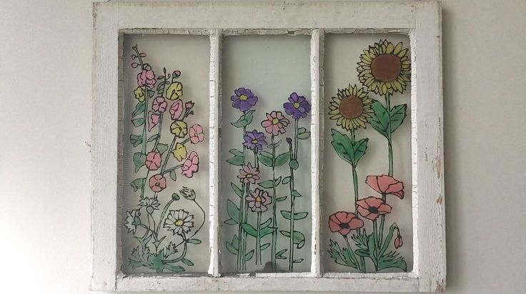 Custom Stained Glass with glue/paint!