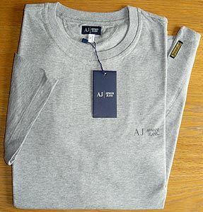 Armani Jeans - Crew-neck T-shirt With Small Logo on Left Side Classic crew-neck t-shirt bearing AJ and Armani Jeans on the left side chest. Small Armani J. woven label near the side seam at the hem. Usual high quality. Rare commodit http://www.comparestoreprices.co.uk/t-shirts/armani-jeans--crew-neck-t-shirt-with-small-logo-on-left-side.asp