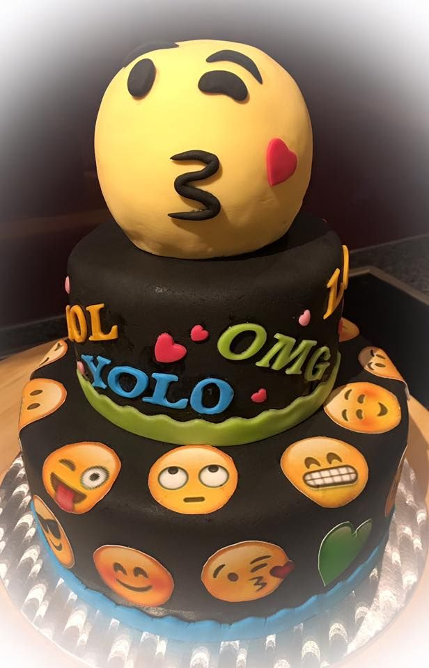 Emoji Torte Smiley Cake Fondant Meine Motivtorten