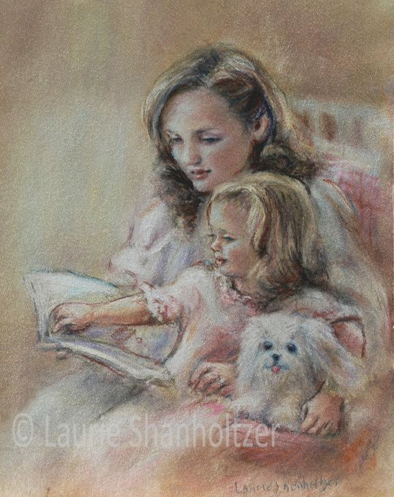 mother and child relationship paintings of dogs