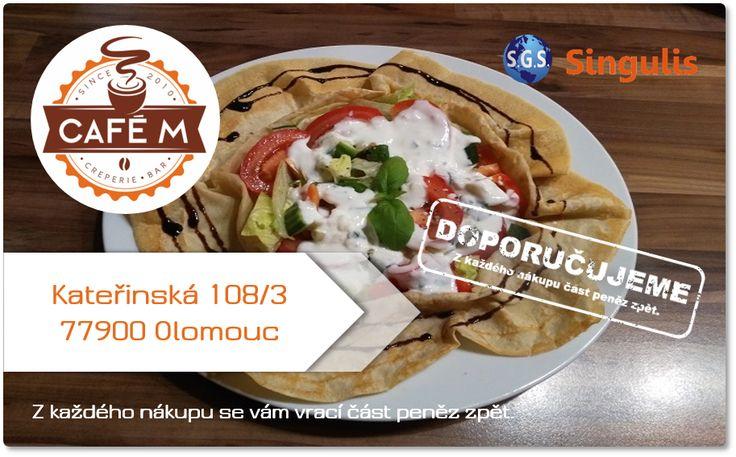 NOVÝ OBCHODNÍ PARTNER V OLOMOUCI CAFE M - KAVÁRNA A PALAČINKÁRNA Jsme nekuřácká kavárna v historickém centru města Olomouce.  Nabízíme:  • lahodné kávy a kávové speciality • výtečné a cenově dostupné snídaňové menu • bezlepkové jídla i dezerty Vše připravujeme pečlivě, dle tradičních receptur a pouze z těch nejčerstvějších surovin. Specializujeme se originální francouzské palačinky Crepes ve sladkých i slaných variantách, taktéž i bezlepkové.
