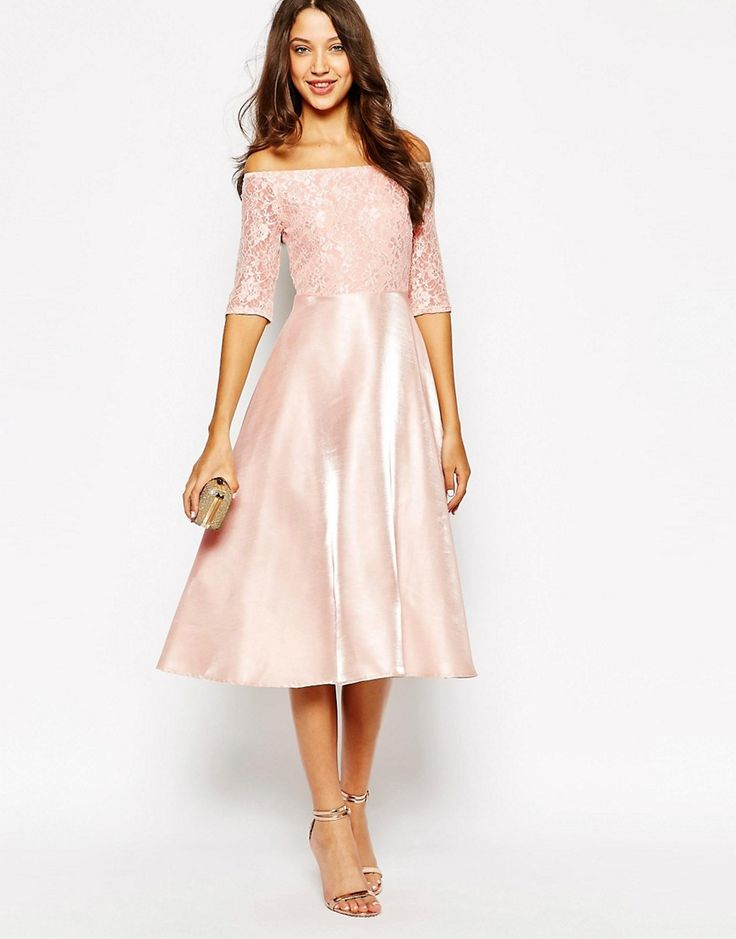 Tea length or midi length dresses for weddings wedding for Formal wedding dresses for guests