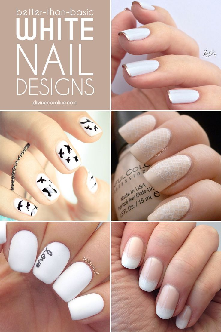 Better-Than-Basic White Nail Designs