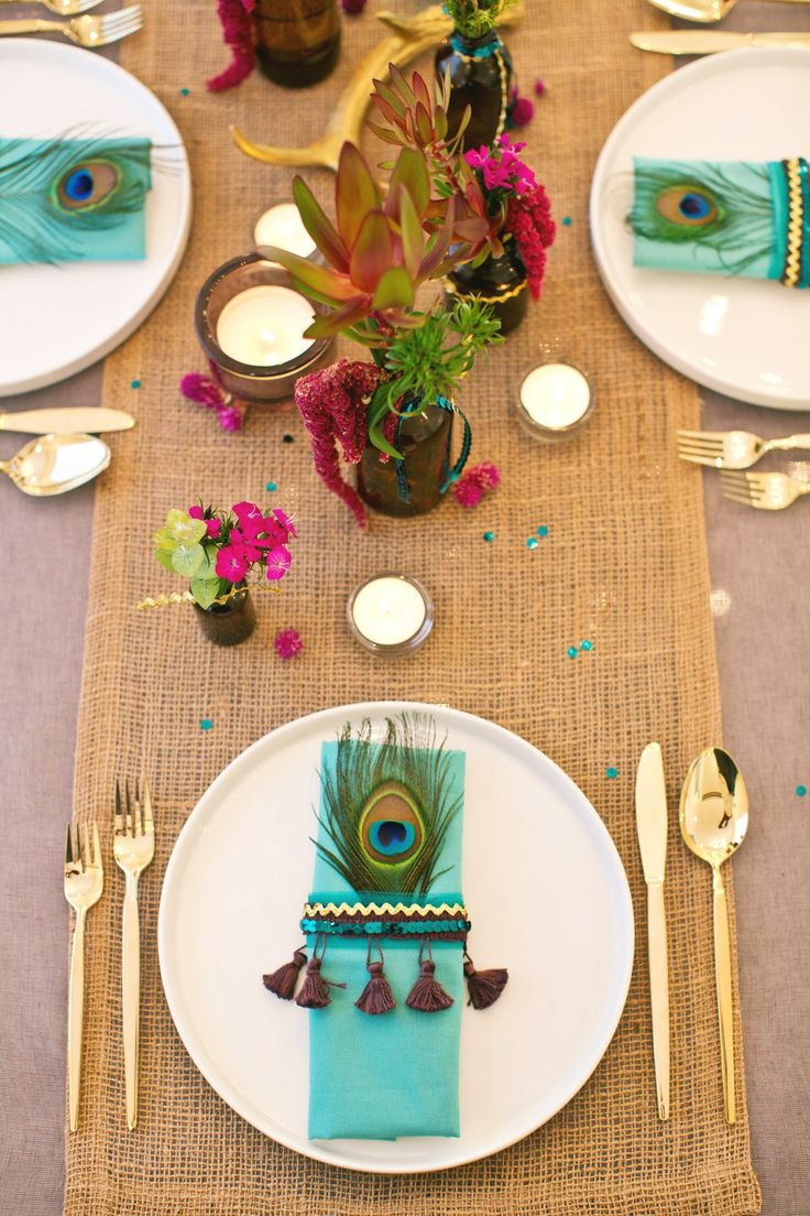gypsy new year's dinner party / diy / bohemian / tablescape styling by msQ