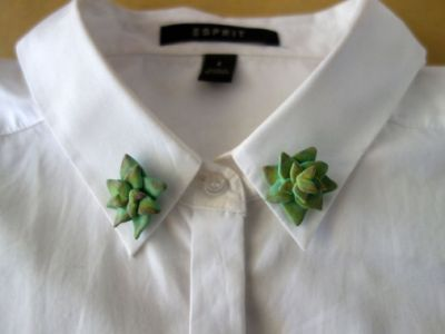 These clay collar pins from The Curious Cactus will make you feel like some sort of plant-laden cowboy.