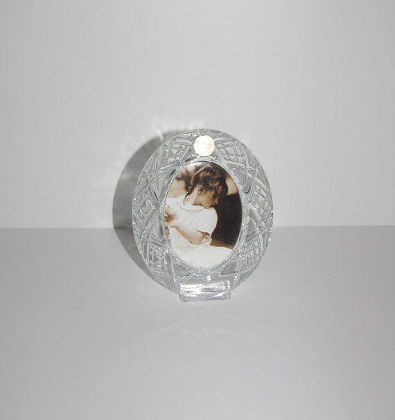Beautiful Lead Crystal Oval Photo Frame by StetsonCollectibles