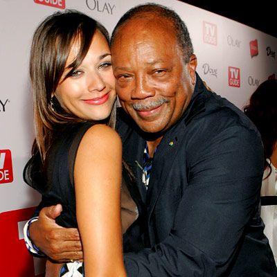 Rashida and Quincy Jones