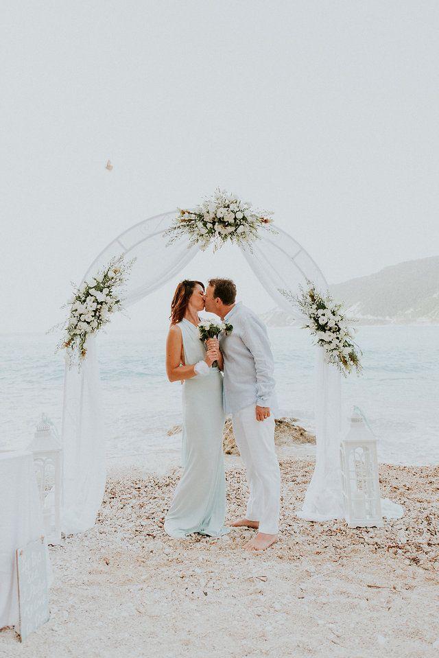 Beach wedding arch with Lefkas Weddings at  Lefkada. White and green theme ©kalampokasfotografia(22).jpg