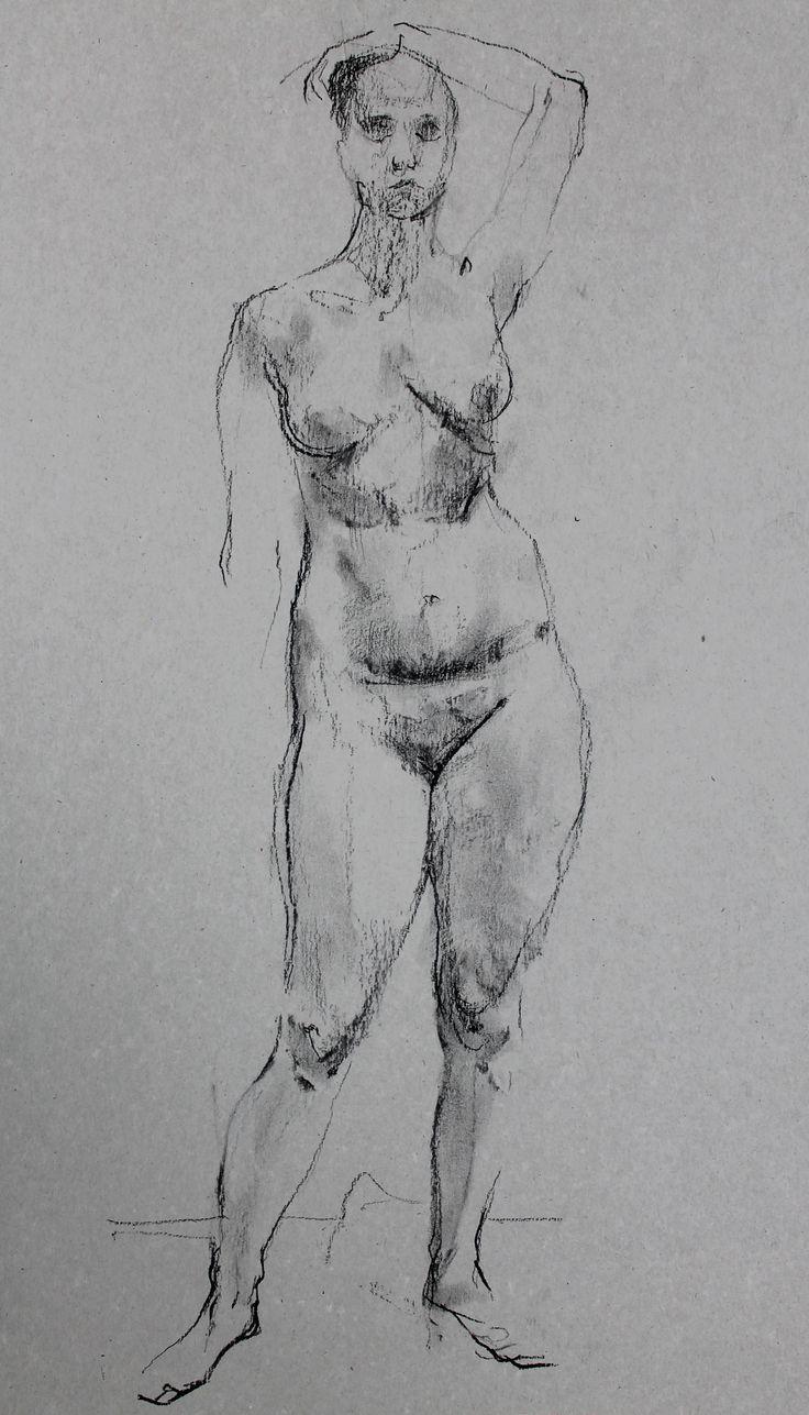 Титенков Владислав. Набросок обнаженной фигуры. А3. 2014 Titenkov Vladislav. Sketch of a nude figure. A3.2014