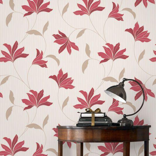 Die besten 25+ Red and gold wallpaper Ideen auf Pinterest - goldene tapete modern design