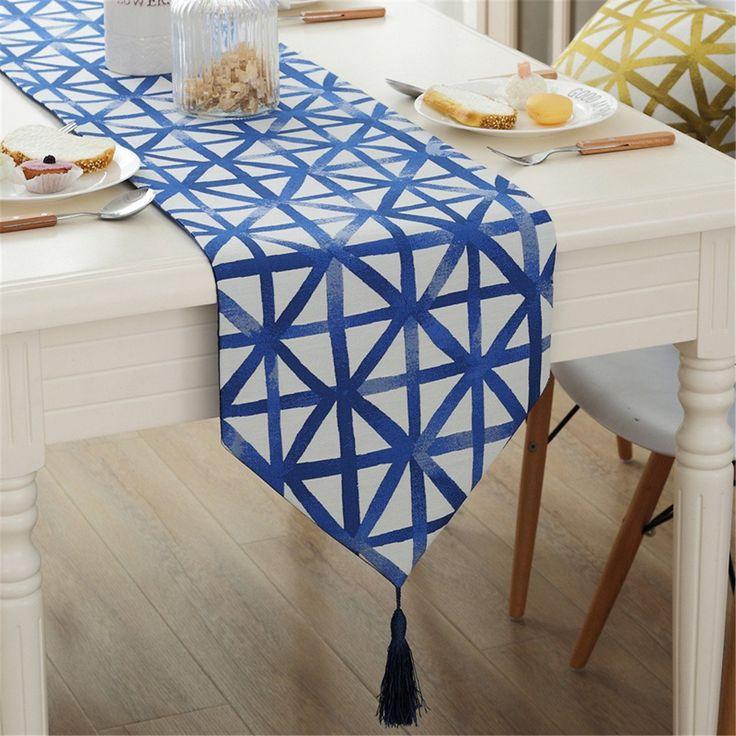 Amazon|シンプル 幾何学 タータンチェック テーブルランナー キッチン ダイニング インテリア 32x180cm|テーブルランナー オンライン通販