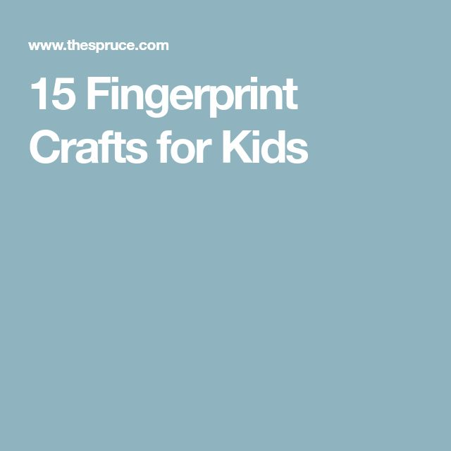 15 Fingerprint Crafts for Kids