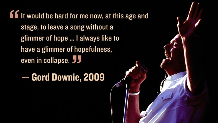 Gord Downie talks about hope in 2009.