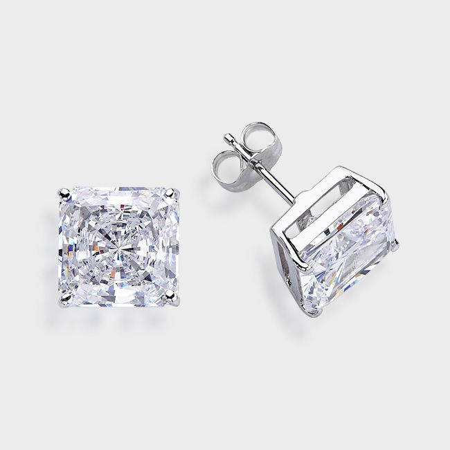 5 0 Ct Each Princess Cut 14k Dressy Cz Earring