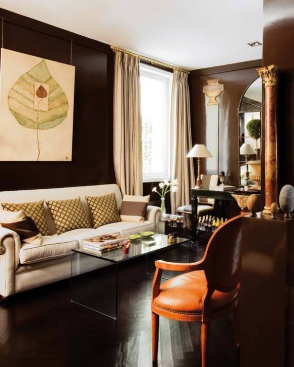 Dark Brown Room Designs I Like Dark Brown Walls. I Like Lacquered Walls.  Just Do A Brown Lacquered Wall. Part 47