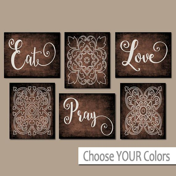 EAT PRAY LOVE Kitchen Wall Art   Kitchen Canvas Or Prints   Dinning Room  Decor
