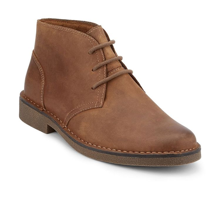 Dockers Tussock Men's Leather Chukka Boots, Med Brown