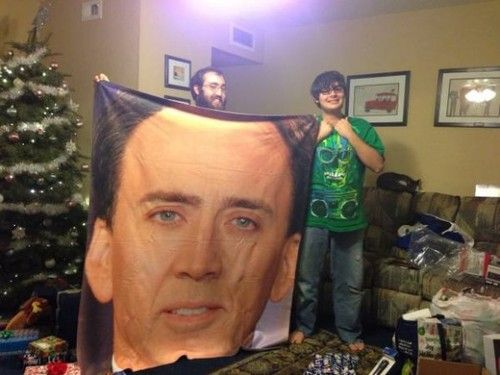 My nephew's Christmas List mentioned that he liked Nicholas Cage  http://meme-rage.tumblr.com