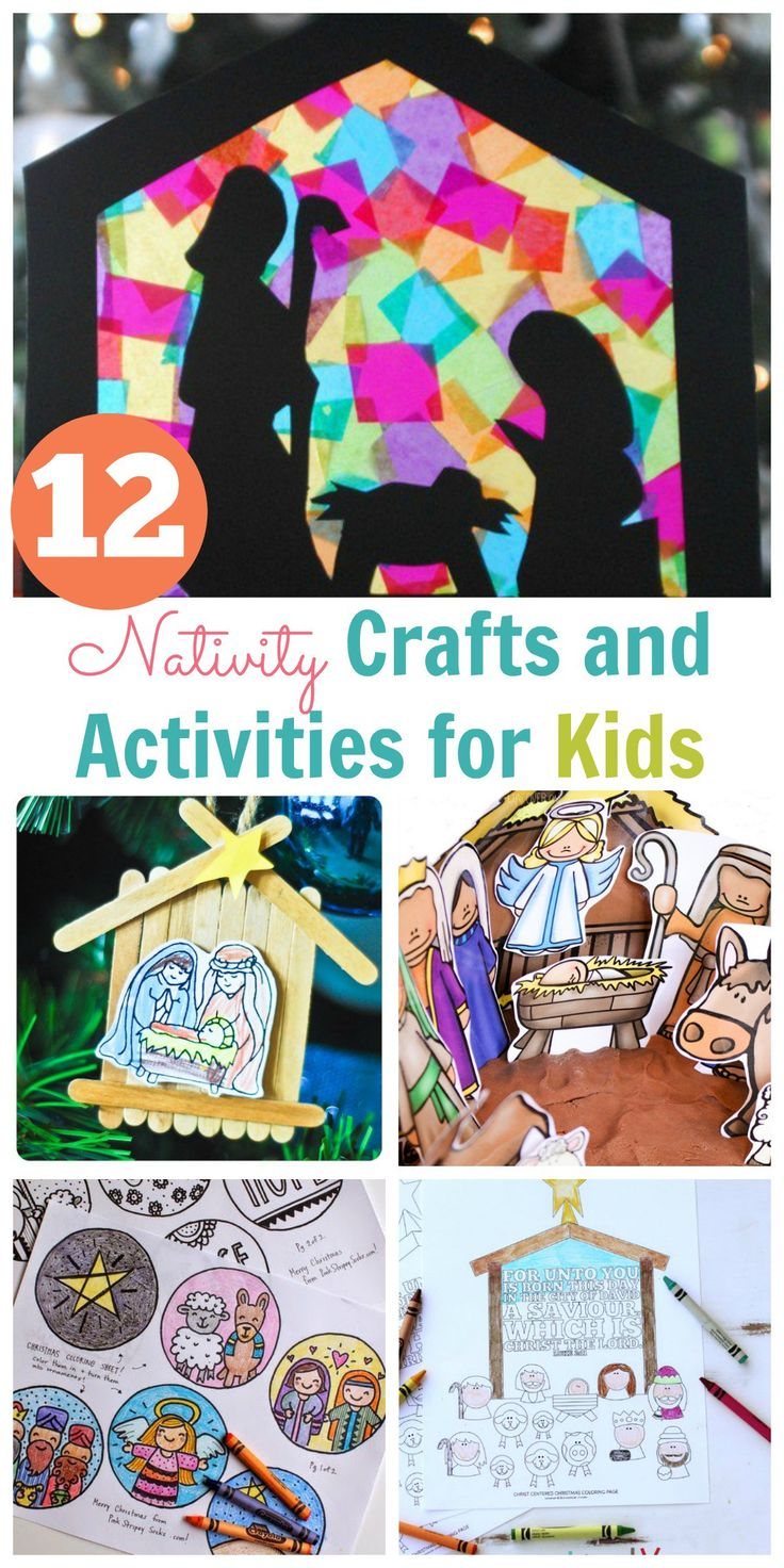Nativity Crafts and Activities for Kids! So many adorable ideas!