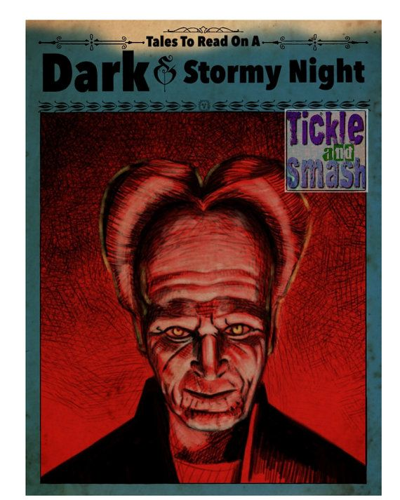 Scary Vampire Card  Tales To Read on A Dark and by TickleAndSmash