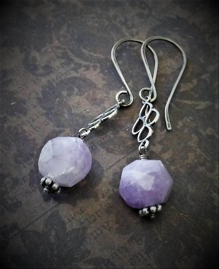 Amethyst Earrings-Sterling Silver-Boho Chic-Rustic Amethyst-Amethyst Nugget-Chandelier Earrings-Boho Chic-Urban Chic-Bohemien Hippie Gypsy by 23littlewishes on Etsy