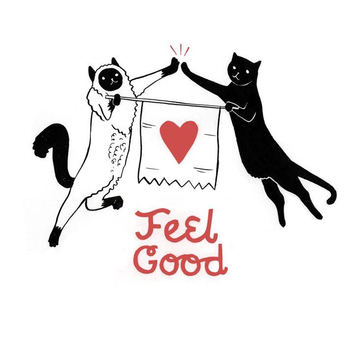 via positive inkingCat Magic, Kitty Cat, Jennings Musari, Meow Kitty, Feelings Good, Illustration, Jennings Mussari, Things Cat, Cat Heart