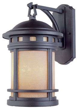 Designers Fountain Sedona Outdoor Wall Mount Light Fixture in Oil Rubbed Bronze - craftsman - Outdoor Wall Lights And Sconces - Hansen Wholesale
