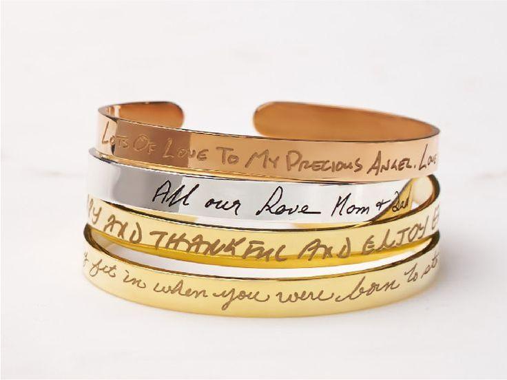 personalized cuff bracelet, personalized cuff links, Handwriting bracelet, engraved bracelets, personalized bracelet, handwriting jewelry, engraved bracelets for her, engravable bracelets, keepsake jewelry, memorial jewelry,