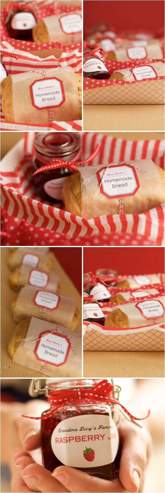 DIY Favors: Homemade Bread and Jam One of my favorite treats is jalapeño and raspberry jam, with cream cheese, on top of plain Ritz crackers. I wonder if I could do something like this...