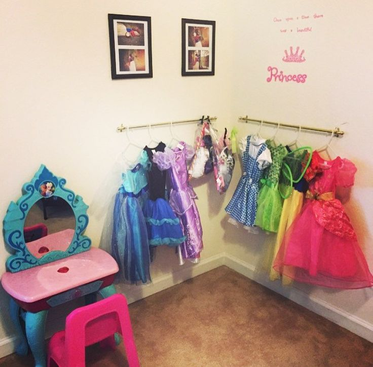 Simple Dress up Area for little girls room