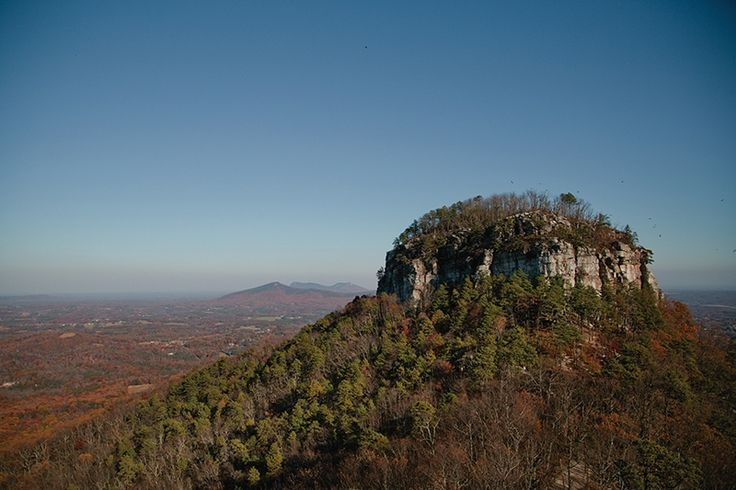 Most Pilot Mountain visitors choose an easy ¾-mile hike, but those more adventurous can take a two-mile trek.