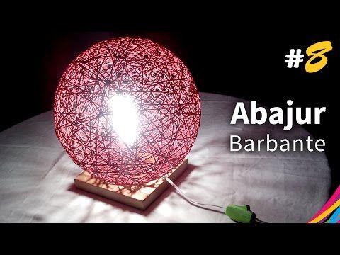 Abajur de Barbante (Base) - Table Lamp Of Twine - Lámpara de Mesa con Hilo - DIY #8 - YouTube
