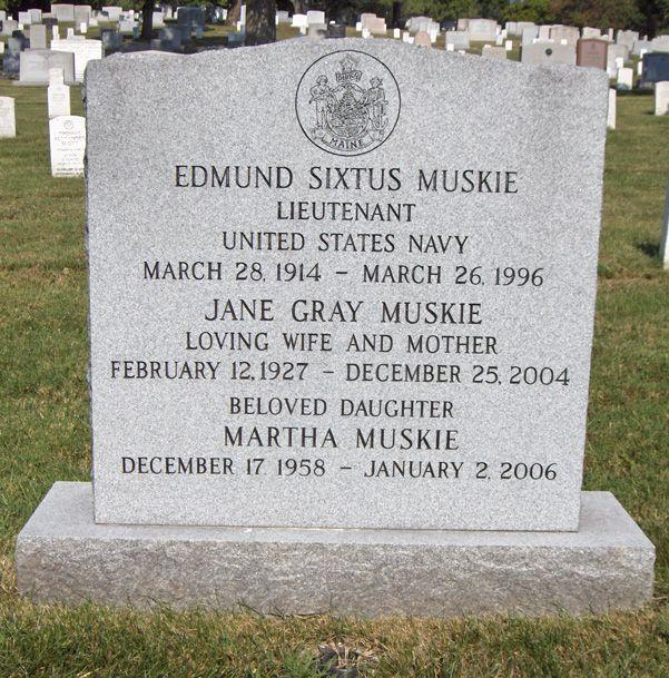 Edmund  Muskie (1914 - 1996) Former US senator and US Secretary of State
