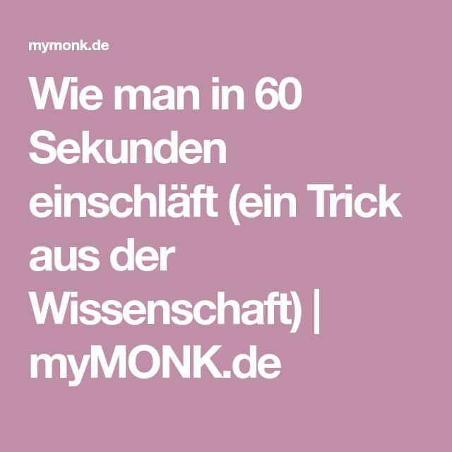 Wie man in 60 Sekunden einschläft (ein Trick aus der Wissenschaft) | myMONK.de – Tanik